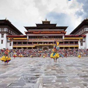 Bhutan Thimphu Il Tashichho Dzong