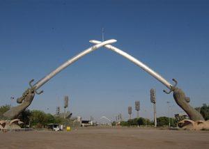 Iraq Baghdad Le Mani della Vittoria