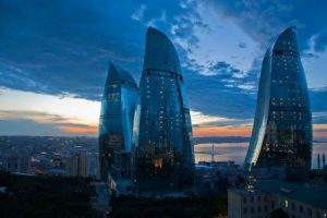 Azerbaigian Baku Le Flame Towers