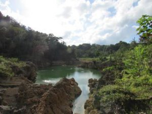 Belize Belmopan Il Parco Five Blues Lake