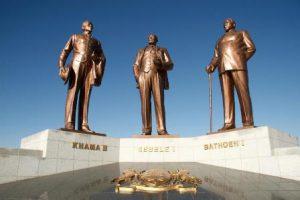 Botswana Gaborone Il Monumento dei tre Capi