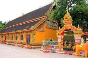 Laos Vientiane Il Tempio Wat Si Muang