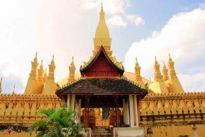 Laos Vientiane Pha That Luang Stupa
