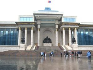 Mongolia Ulan Bator La Piazza Suhbaatar