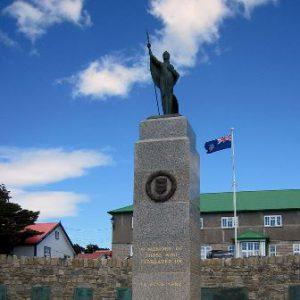 Isole Falkland Port Stanley Il Memoriale sulla Guerra di Falkland di Port Stanley