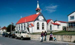 Isole Falkland Port Stanley La Chiesa di Santa Maria di Port Stanley