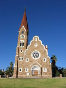 Namibia Windhoek La Chiesa Christuskirche di Windhoek