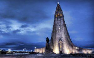 Islanda Reykjavík La Chiesa Hallgrímskirkja di Reykjavík